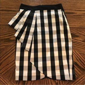 Karen Millen Black & White Gingham Plaid Skirt 10A